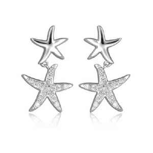 Double Starfish Earrings