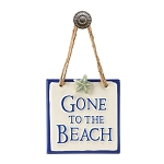 Gone to the Beach Plaque