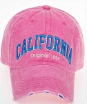 Distressed Cap in Pink