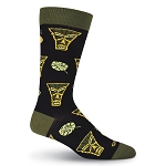Tiki and Leaves Socks