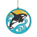 Orca Lasercut Wood Ornament